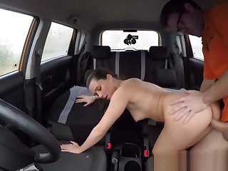 Delicious Pussy Pounded In Car