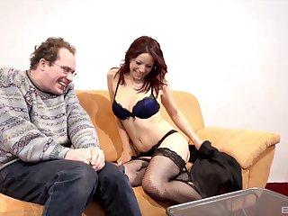 MILF Natalie Hot loves obtaining fucked up doggystyle wearing fishnets