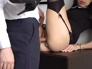 Ass Fucking Internal Ejaculation For Gorgeous Super-Bitch Assistant, Chief Demoralized Her Cock-Squeezing Cooter And Culo!