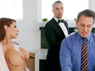 Unpredictable intensify butler is preparing to anal fuck housewife