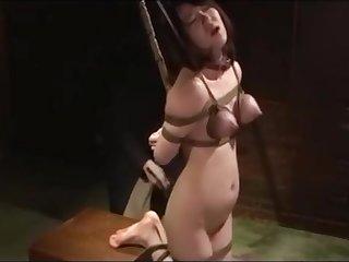 Japanese BDSM Tit torture together with Bastinado