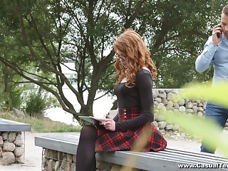 Nerdy red head in glasses Mary Solaris turned to be insatiable anal insane bitch