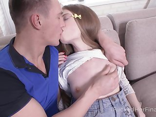 Russian virgin Adel is fucked upon anus and mouth by insatiable boyfriend