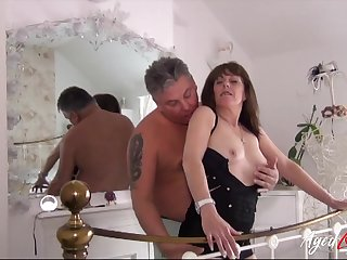 Mature ladies seducing and being seduced to provide some hard fuck