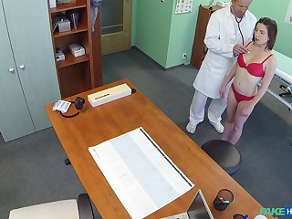 Hidden camera at someone's skin doctor's office records amazing sex with a patient