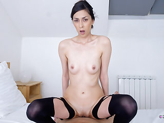 Ashley The drink flood in Slim Girl Close by VR Discard - CzechVRCasting