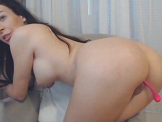 Amateur brunette cosset WebCam Masturbation