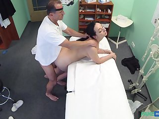 Doctor fucks subfusc patient and films will not hear of in unventilated