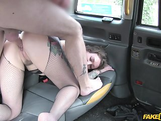 Aroused woman leaves horny cab driver to bang will not hear of