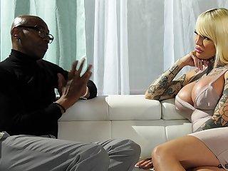 Freak transgender Nadia Love gets her anus blacked