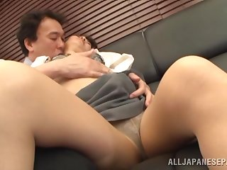 Permanent sexual connection be fitting of a thick Asian mature with great forms
