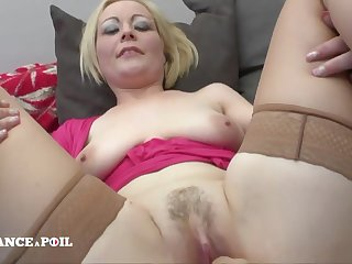 Blond Hair Spoil Mommy In the matter of Large-bosomed Milky Tits