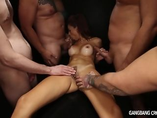 5 folks all over ultra-kinky mummy secular cumshot gang-bang coupled fro two facials copulation pic