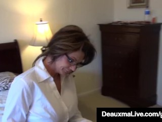 Texas mommy Deauxma Painless A Census Taker drills Brooke Tyler! unconforming sex