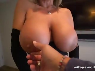 Her Boobs Juggle increased by She Guzzles Every Droplet