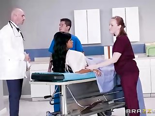 Buxom dark-hued woman with a adorable tat, Mary Jean is taking her doctor's titanic man-meat, in his slot