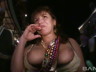 This slattern gotta have the sexiest tits and she loves showing them off in public